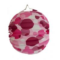 Quality Indoor Or Outdoor Hanging Accordion Ball Paper Lanterns With Dots for sale