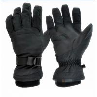China winter gloves outdoor gloves ski gloves mountain gloves black color adults size nylon fabric on sale
