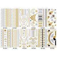 Quality Stock wholesales metallic tattoo designs for sale