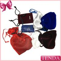 China Wholesale Leather Velvet Satin Flocking Suede Organza Linen Fabric Nylon Non-voven Drawstring Jewellery Jewelry Pouch on sale