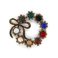 Quality Ancient Bronze Vintage Shoe Buckle Replacement Circular Crystal Buckle for sale