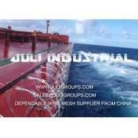 Quality stainless steel anti piracy concertina razor wire for ship security for sale
