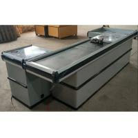 Buy Automatic Stainless Steel Cash Checkout Counter Desk / White Reception Cashier at wholesale prices