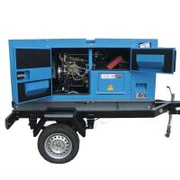 Quality Cummins  Diesel Engine Driven Generator , Silent Trailer Mobile Generator Set for sale