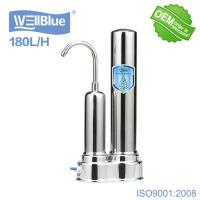 Quality Household Ceramic Countertop Water Filter With Stainless Steel Faucet for sale