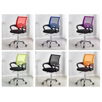 Quality High Back PU Leather Black Ribbed Office Chair for sale