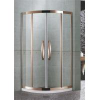 304 Stainless Steel Quadrant Shower Enclosures Rose Gold Two sliding glass