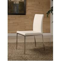Stainless Steel White Faux Leather Dining Chairs 500*590*800mm