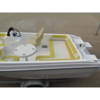 Buy cheap 40HP 5m comfortable fiberglass pleasure yacht with all cushions from Wholesalers