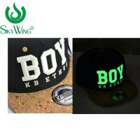 Quality Adults Safety Flat Brim Golf Hats Ping 3D Glow In The Dark Embroidery for sale