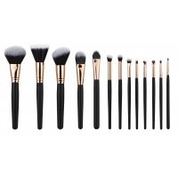 Buy cheap 13PCS high end Cosmetic Professional Makeup Brush Set Rose Golden Copper Ferrule from Wholesalers
