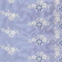 China 100% Cotton Embroidered Fabric, Different Colors are Available on sale