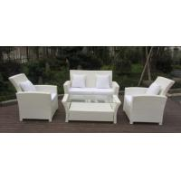Quality Resin White Rattan Outdoor Sofa Sets Discount Rattan Furniture All Weather for sale