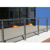 Quality 4mm Ss Wire Building Railing , Stainless Steel Cable Balustrade Polished Surface Finish for sale