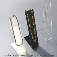Quality Hot selling counter top L shape transparent Acrylic Necklace Display Stand for sale