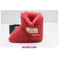 Quality 2017 Hot Sale sheepskin double face fur Baby Shoes Fancy Baby Girls Shoes Winter shoes for sale