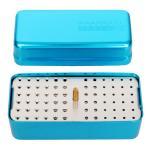 Quality Aluminium Dental Polishing Handpiece 72 Holes Bur Holder Stand Disinfection Box for sale