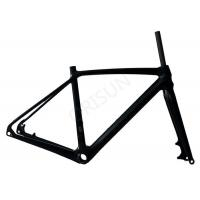 Quality Lightweight Carbon Bike Frame Disc Brake With Customized Painting Design for sale