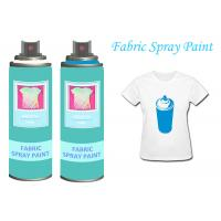 Quality Black Fabric Spray Paint Acrylic Spray Paint For Clothing / Shoes UV Resistant for sale