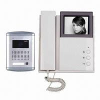 Quality 4 Wired Video Door Phone for Villas CCD and CMOS camera, 4-inch B/W, Color TFT LCD/Wall Mounted Type for sale