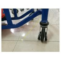 Quality Unfolding Supermarket Metal Shopping Trolley , Kids Shopping Cart With Plastic for sale