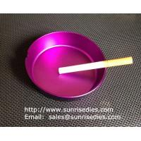 Quality Multi-colored anodised aluminum smoking ashtray wholesale, China metal gift factory, for sale