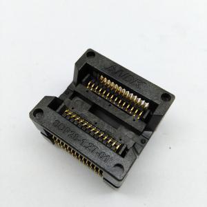 China SOP28 SOIC28 SO28 IC Test & Burn Socket Pitch 1.27mm IC Body Width 7.5mm 300mil OTS-28-1.27-04 Test Socket Adapter on sale