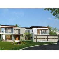 Quality CN Steel Structure Prefab Villa Cheerful Prefab House With PVC Ceiling Panel for sale