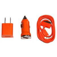 Quality 3 in 1 USB AC Wall Charger+Data Cable+Car Charger for iPod & iPhone 4 4S 3GS for sale