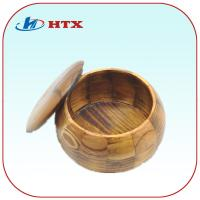 China Round Pine Wood Box for Tea/Chess Pieces/Candy on sale