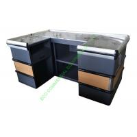Quality Modern Supermarket Steel Cashier Table / Store Retail Counter Without Belt for sale