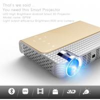 Quality simplebeamer GP5W 3D led Projector 1800 lumens with Android 4.44 OS,wifi Smart projector Bluetooth exceed mini projector for sale