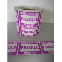 Buy Self Adhesive Electrical Warning Shipping Labels Pre - Printed Fragile Sticker at wholesale prices