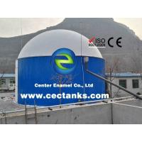 Quality Bolted Steel Grain Storage Tanks With Aluminium Dome Roof Custom Color for sale
