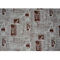 Quality Printed Micro Suede Fabric For Tablecloth , Suede Cloth Fabric for sale