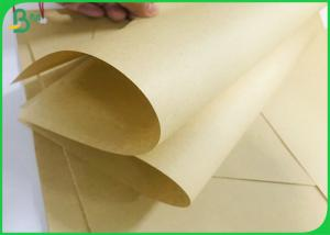 China 50G 80G Bamboo Pulp Based Eco Unbleached Kraft Liner Paper Roll For Envelope Bag on sale