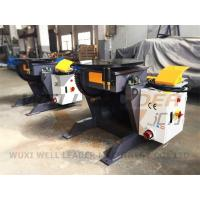 Quality 24 Inch Table Rotary Welding Positioner Manual Tilting Motorized Rotation for sale