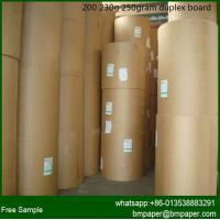 Quality duplex board paper/ grey back / gift wrapping paper / paper price per ton for sale