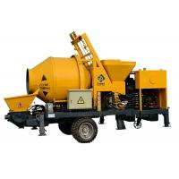 Quality Remote Control Diesel Concrete Pump Mobile , Truck Mounted Cement Mixer Pump for sale