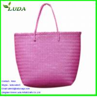Quality Reusable bulk plastic beach straw bag with customized printing for sale