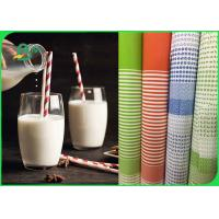 Quality Durable Food Grade Kraft Paper For Paper Straws 100% Recyclable 60GSM 120GSM for sale
