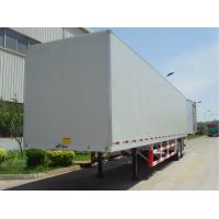 Quality 20 Tons Flat Panel Cargo Storage Container Dry Van Mechanical Suspension Type for sale