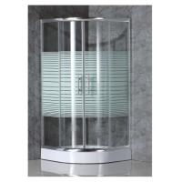 Quality simple shower enclosure with strip glass for sale