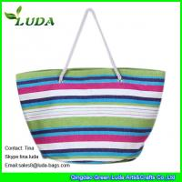 Quality large paper straw beach shopping bags for sale