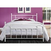 Buy cheap Decorative Full Size Metal Beds , Double White Full Storage Bed Frame Platform from Wholesalers