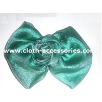 China Ribbon Large Flower Corsage For Men / Prom Fabric Flower Brooch Polyester Voil on sale
