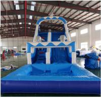 Quality Kids Sport Game Water Slide Inflatable Amusement Park Outdoor Safe And Stable PVC for sale