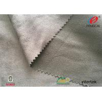 Warp Knitting Microfiber Suede Upholstery Fabric Silver Poly Suede