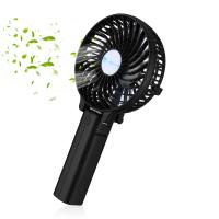 Quality 3 Speed Black Rechargeable Mini Fan Outdoor Leisure Portable Air Cooling Fan for sale
