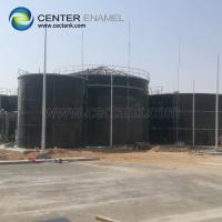 Quality Bolted Steel Grain Storage Silos With Membrane , Aluminum Roof for sale